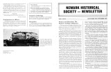 Newark Historical Society Newsletter, September 1984